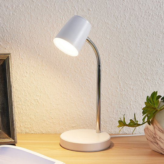 Lindby Jegor LED-bordlampe i hvit