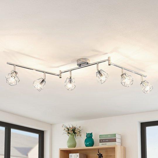 Lindby Giada LED -kattovalaisin, kuusilamppuinen