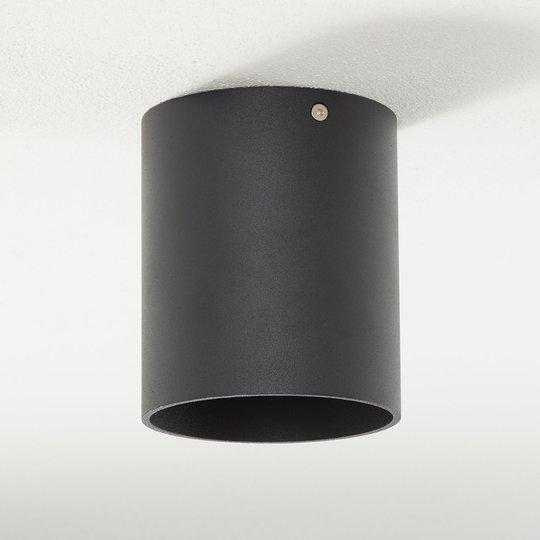 Lucande Paolo -alasvalo GU10 pyöreä, musta