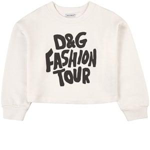 Dolce & Gabbana Fashion Tour Logo Tröja Vit 4 år