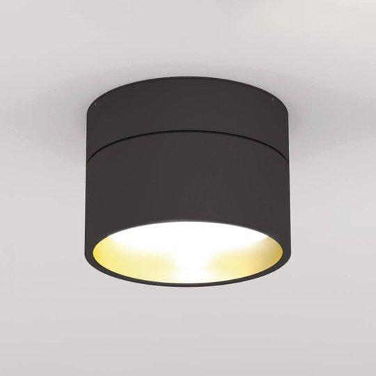 LOUM Turn on LED-taklampe dim 2 700 K svart/gull