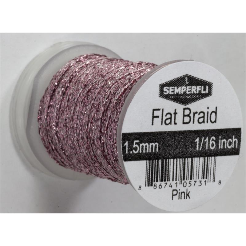 Semperfli Flat Braid 1,5mm Fl. Pink