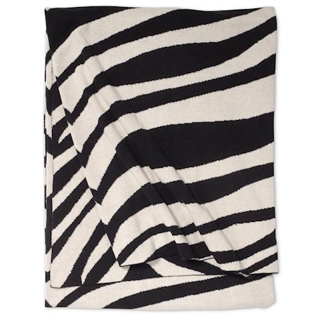 Pledd Zebra 130 x 170 cm - Svart