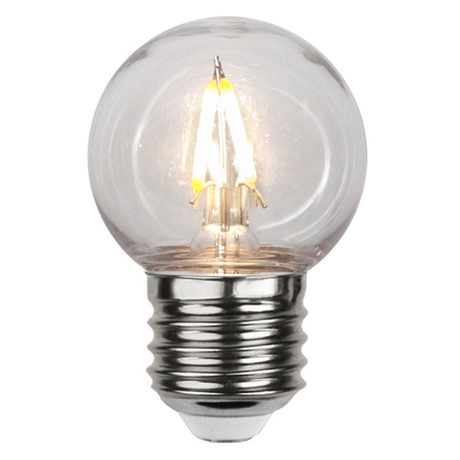 LED-lamppu E27 G45 1,3W 2 700 K kirkas murtumaton