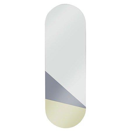 Oval Speil Gull/Grå L