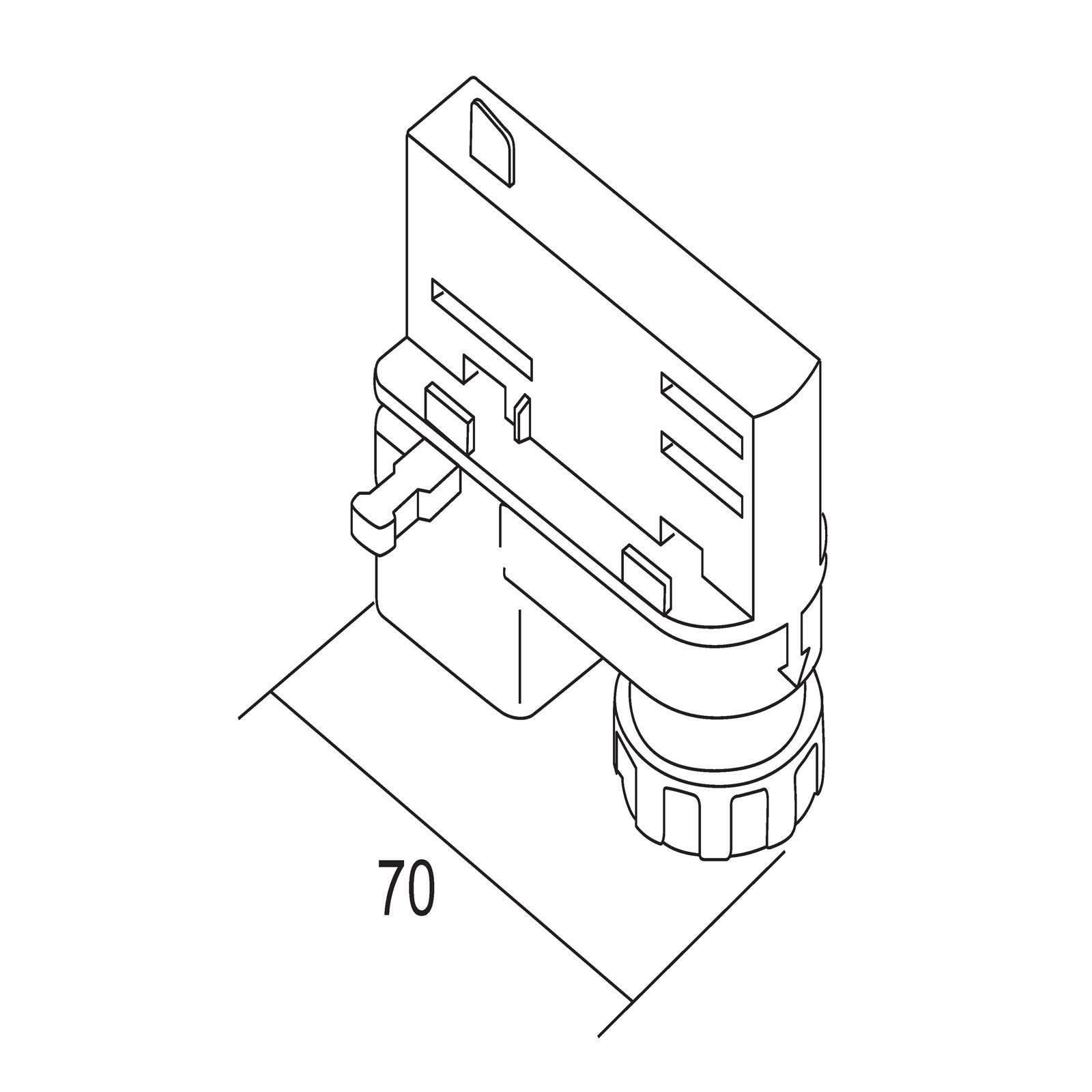 Ivela universal-adapter, 220-240 V, sølv