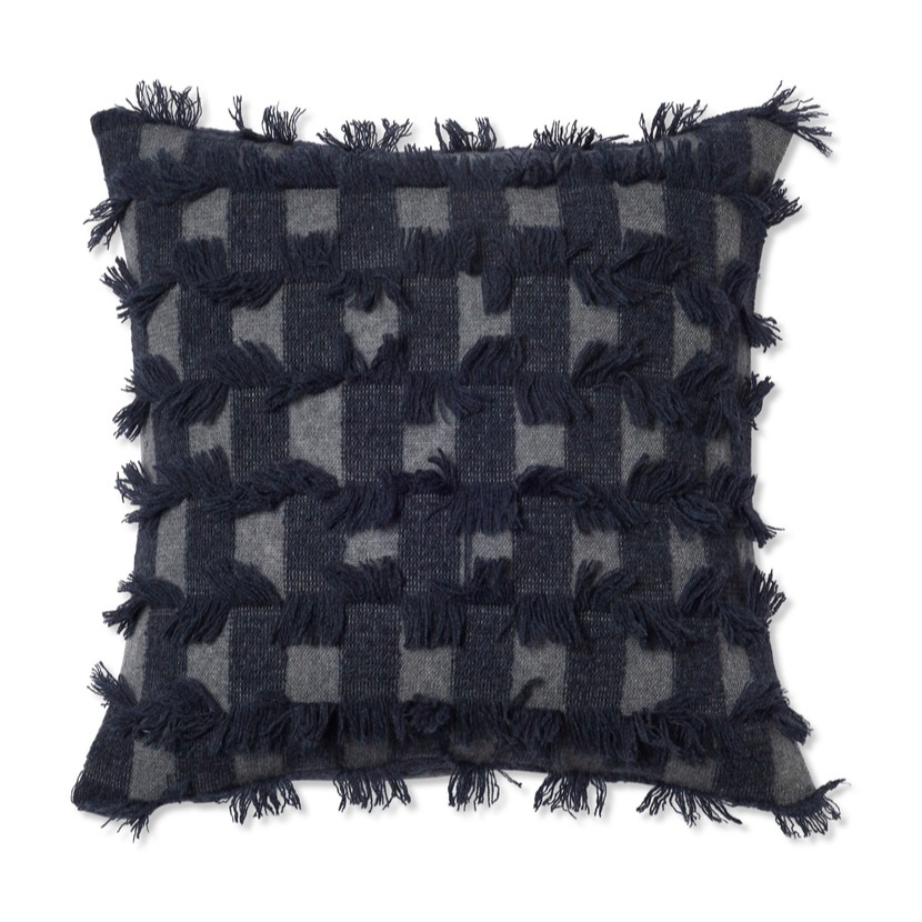 Oyuna I Seren Cushion | Slate Grey & Indigo