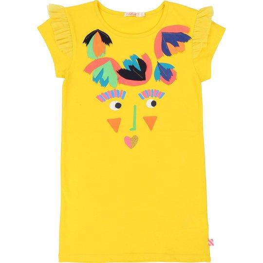 Billieblush Kjole, Yellow 4år