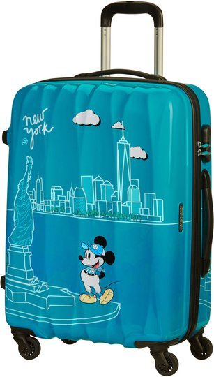 American Tourister Alfatwist Spinner Trillekoffert 62.5L, Take Me Away Mickey NYC
