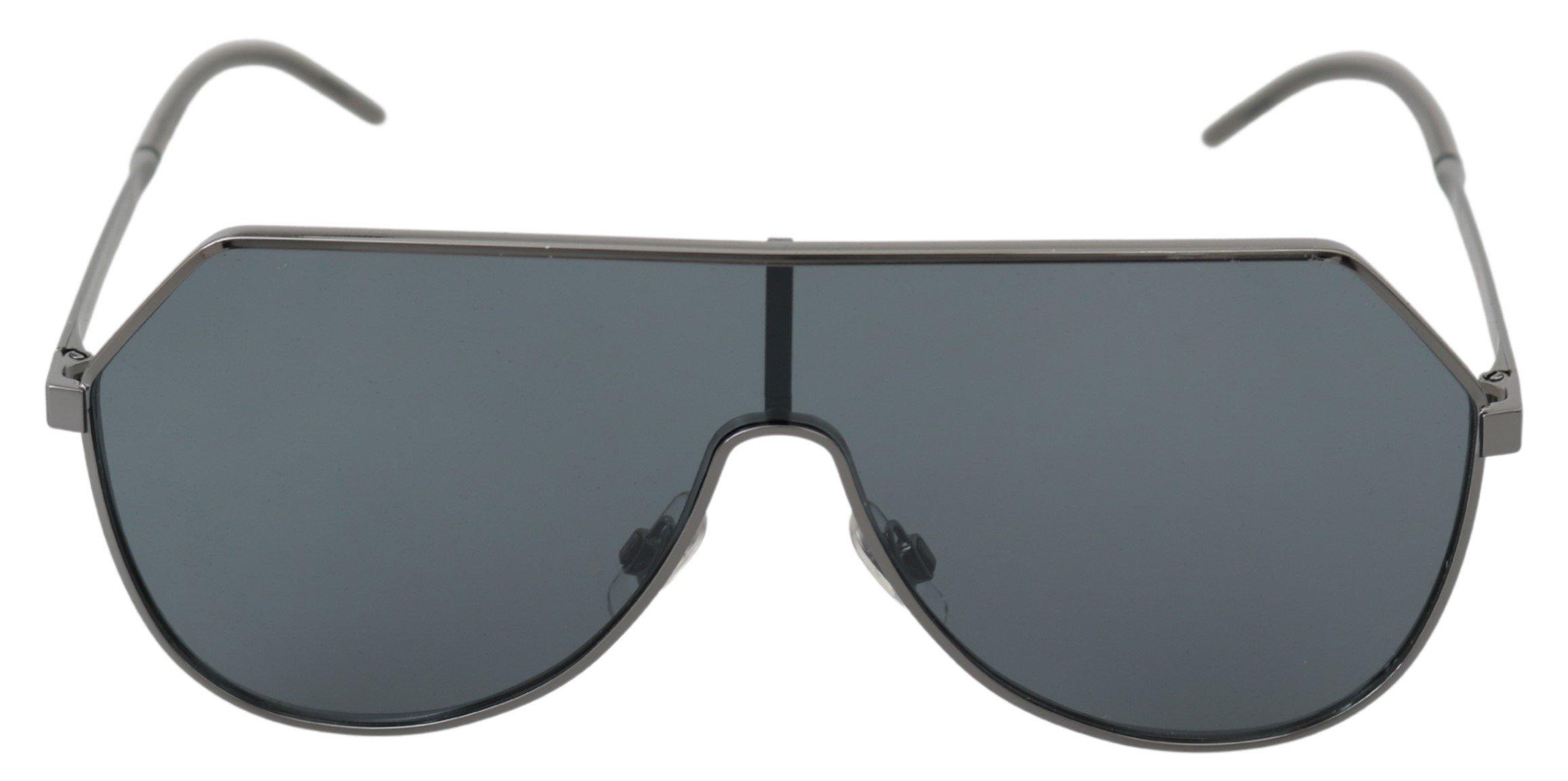Dolce & Gabbana Women's Logo Shield Sunglasses Gray GLA770
