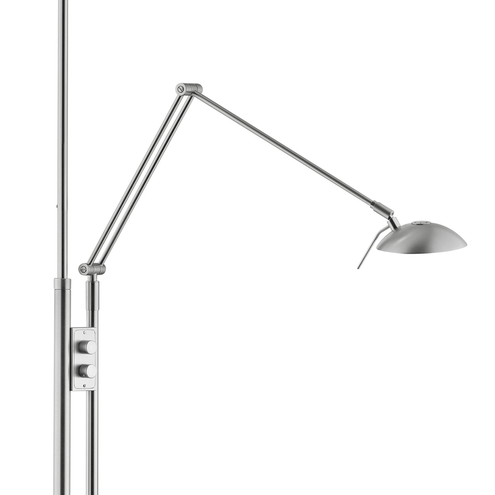 Ylös suunnattu Jona-LED-valo, lukuvarsi, nikkeli