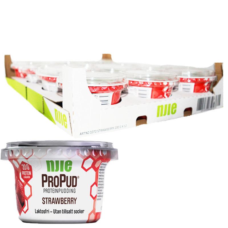 Hel Låda Proteinpudding Jordgubb 12 x 200g - 28% rabatt