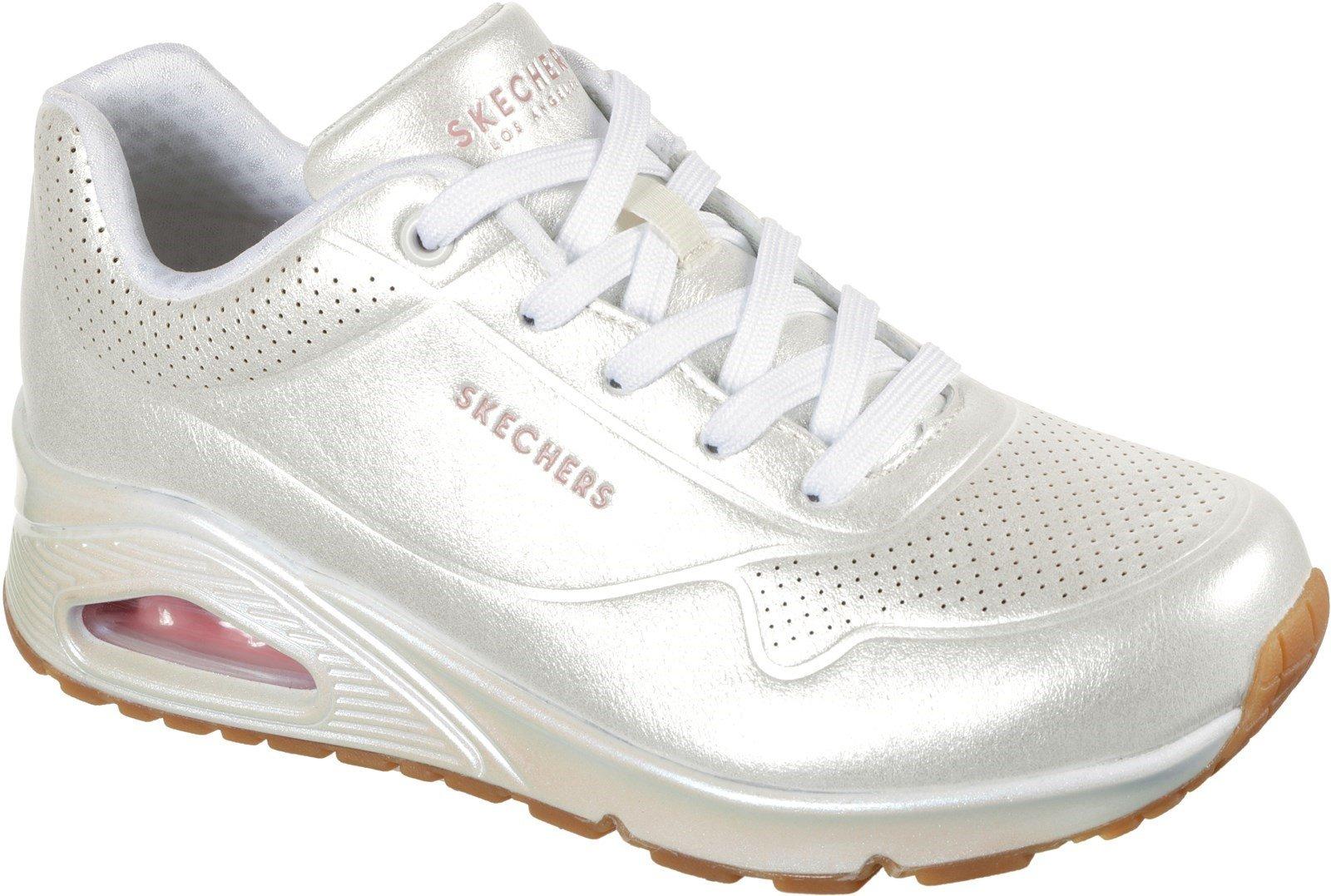Skechers Women's Uno Pearl Queen Sports Trainer White 32136 - White 8