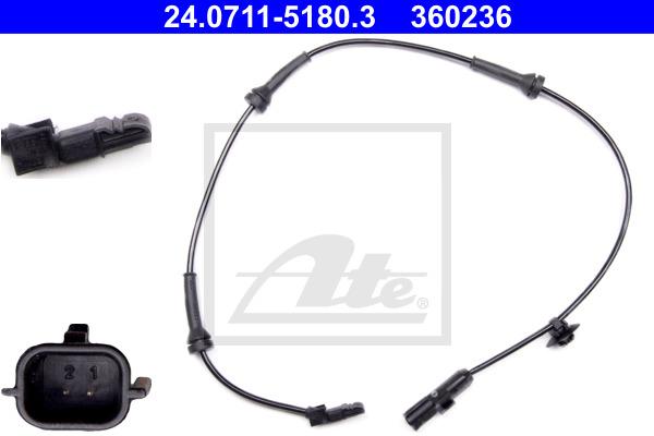 ABS-anturi ATE 24.0711-5180.3