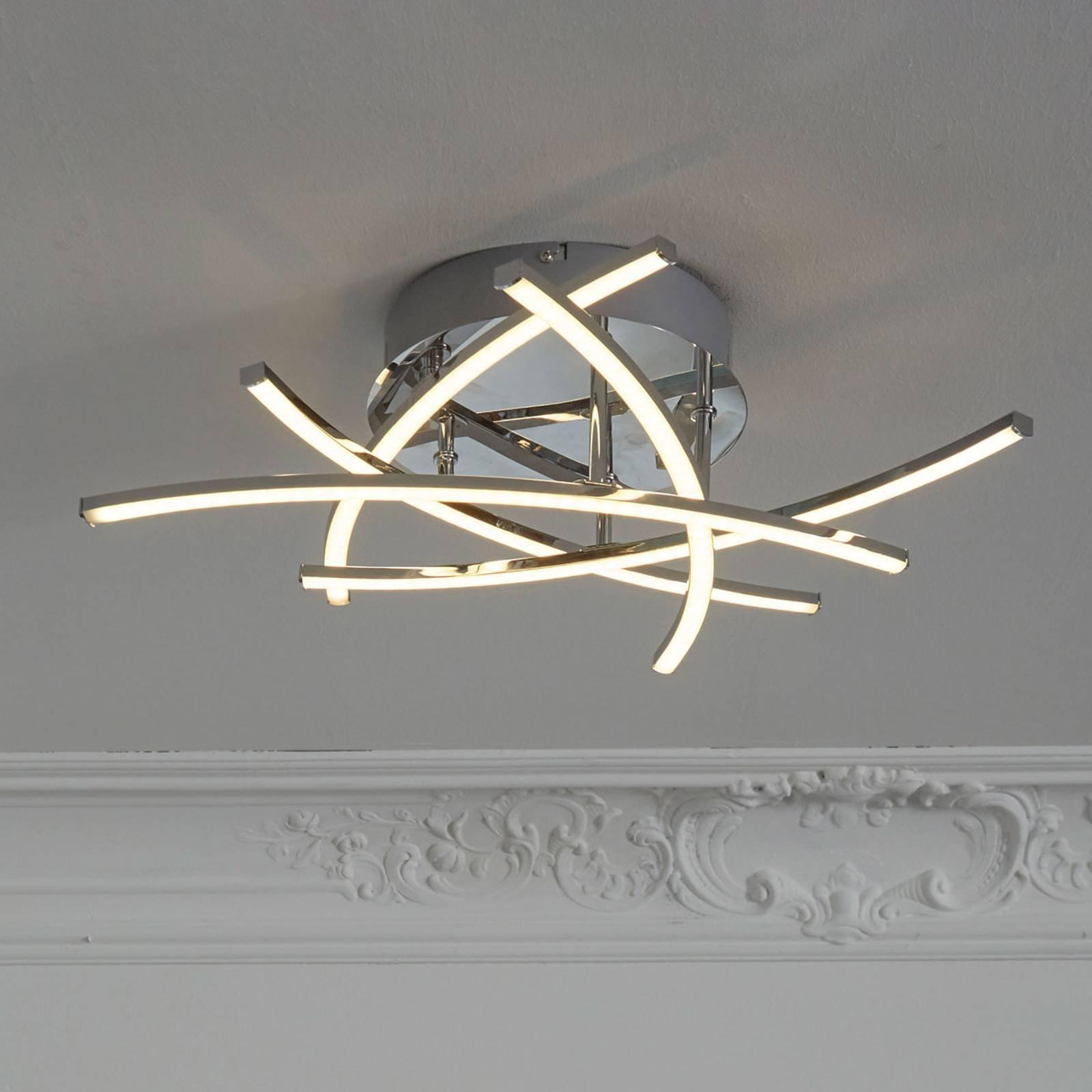 LED-taklampe Cross tunable white 5 lyskilder, krom