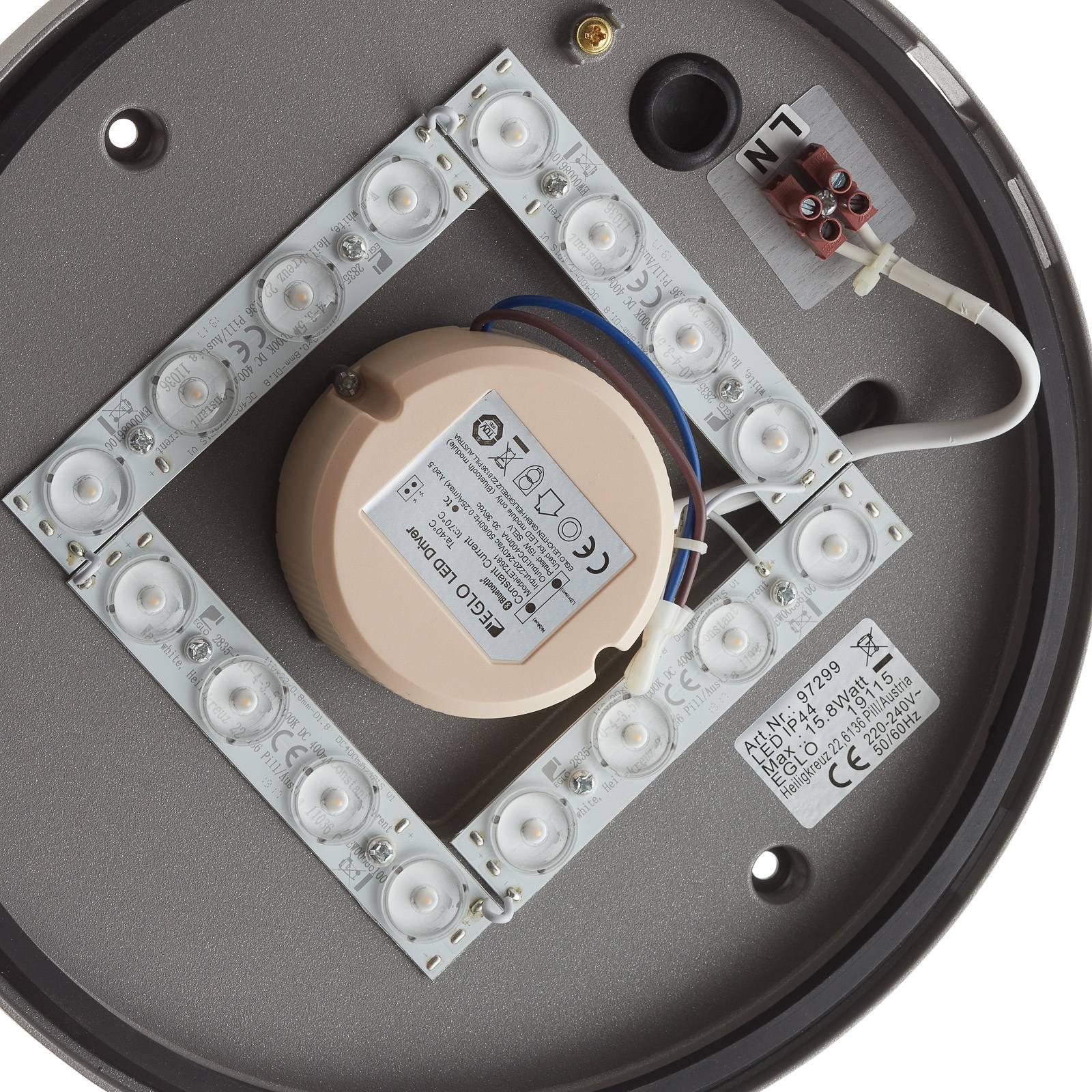 EGLO connect Locana-C LED-utevegglampe sølv