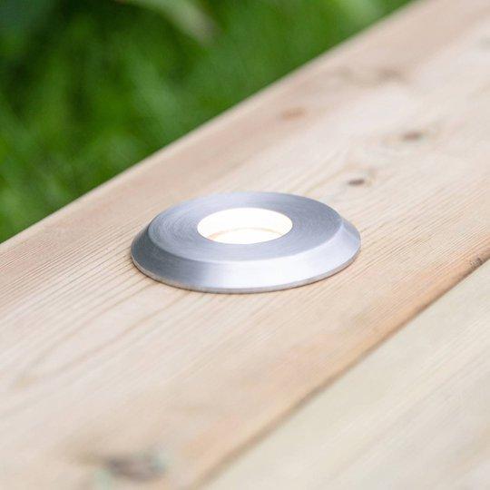 Garden 24 LED-spot, sølv, lys oppe, 3W