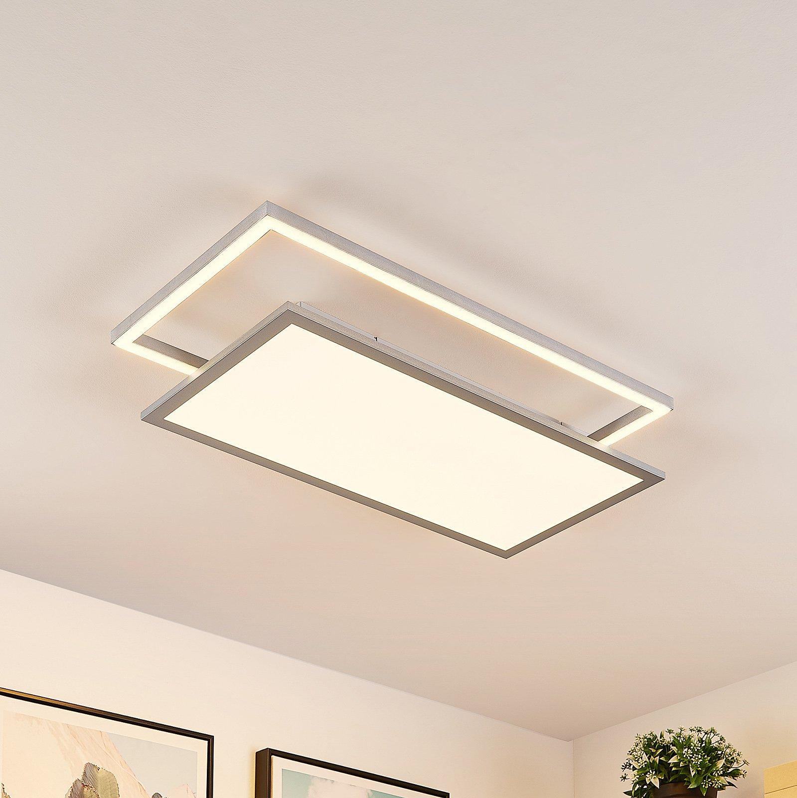 Lucande Senan LED-taklampe, rektangulær, CCT