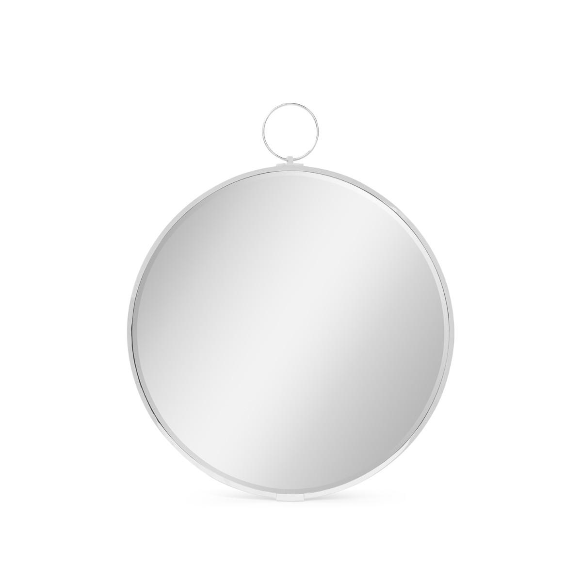 William Yeoward | Avalone Round Wall Mirror Nickel
