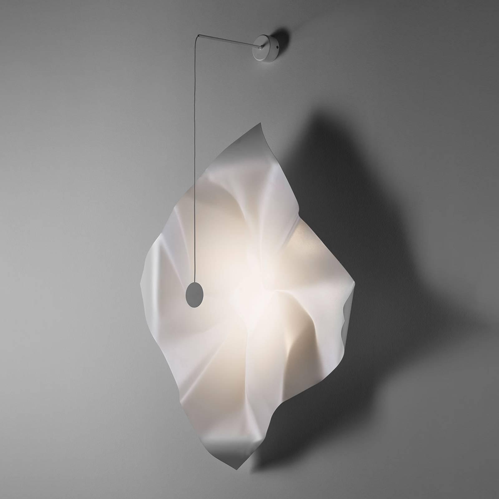 Knikerboker Crash LED-vegglampe hvit kvadratisk