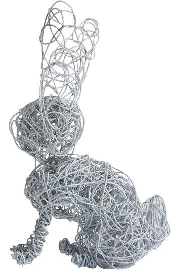 Adore Us Babies Wire Words Bunny, Hvit