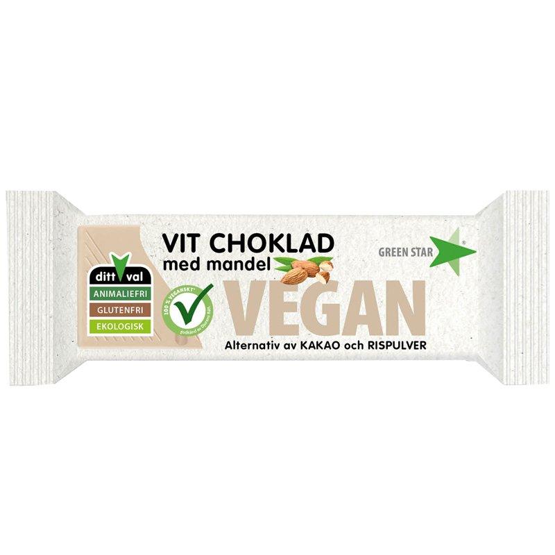 Eko Vit choklad med mandel - 47% rabatt