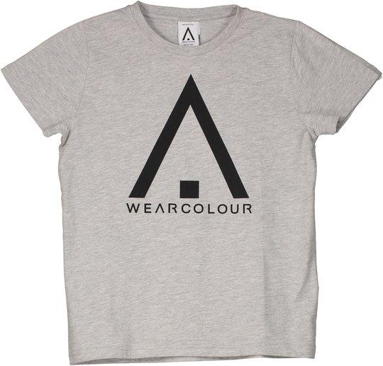 Wearcolour Patch T-Shirt, Grey Melange 120