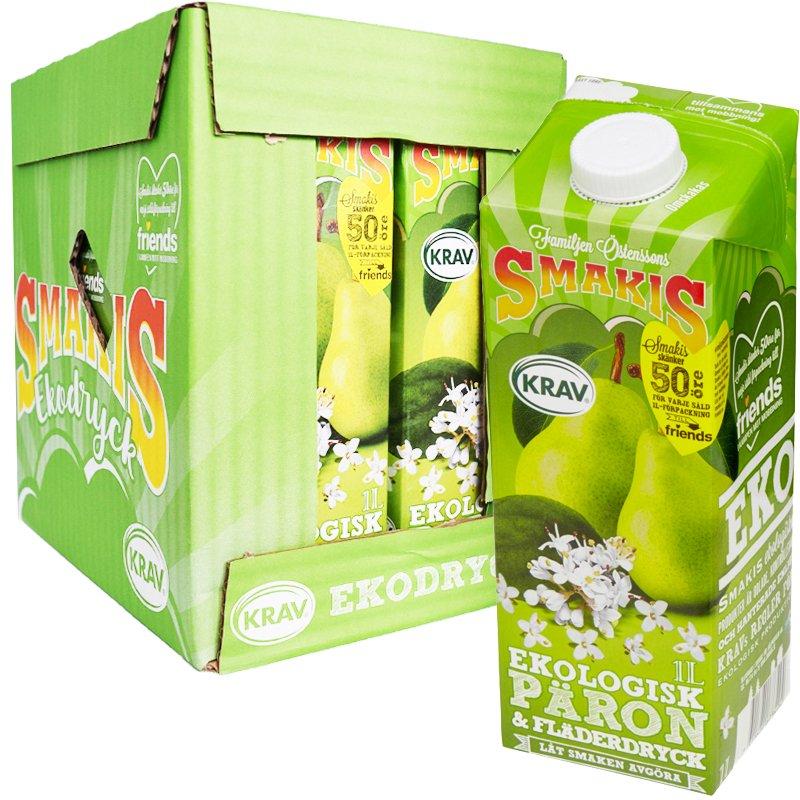 Laatikko: Päärynä- & Seljankukkajuoma 6 x 1l - 75% alennus