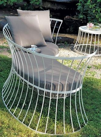 Clessidra trädgårdssoffa – Vit/grå