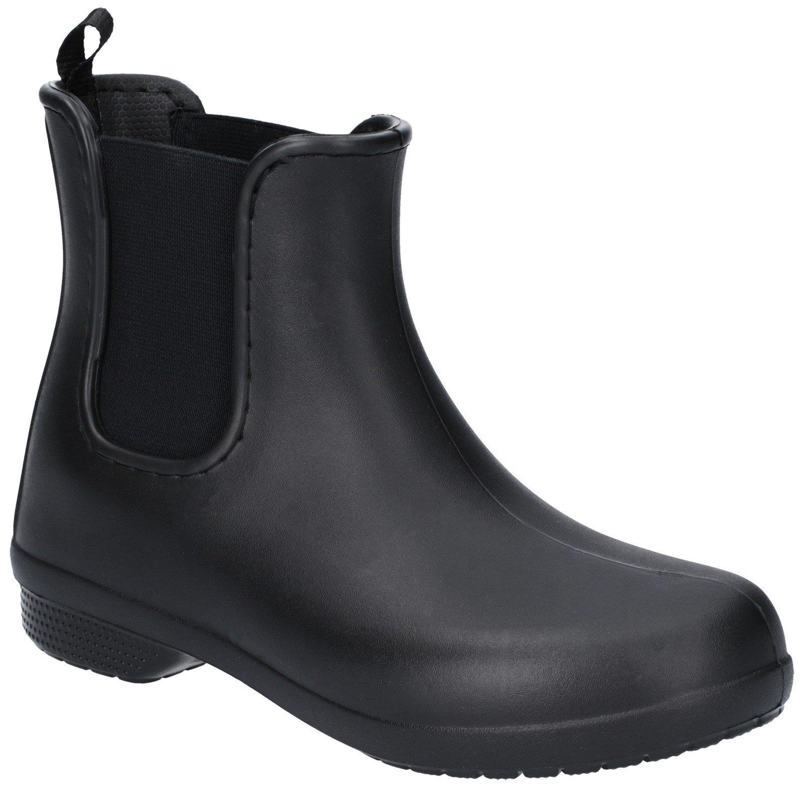 Crocs Women's Freesail Chelsea Boot Various Colours 27504 - Black/Black 3