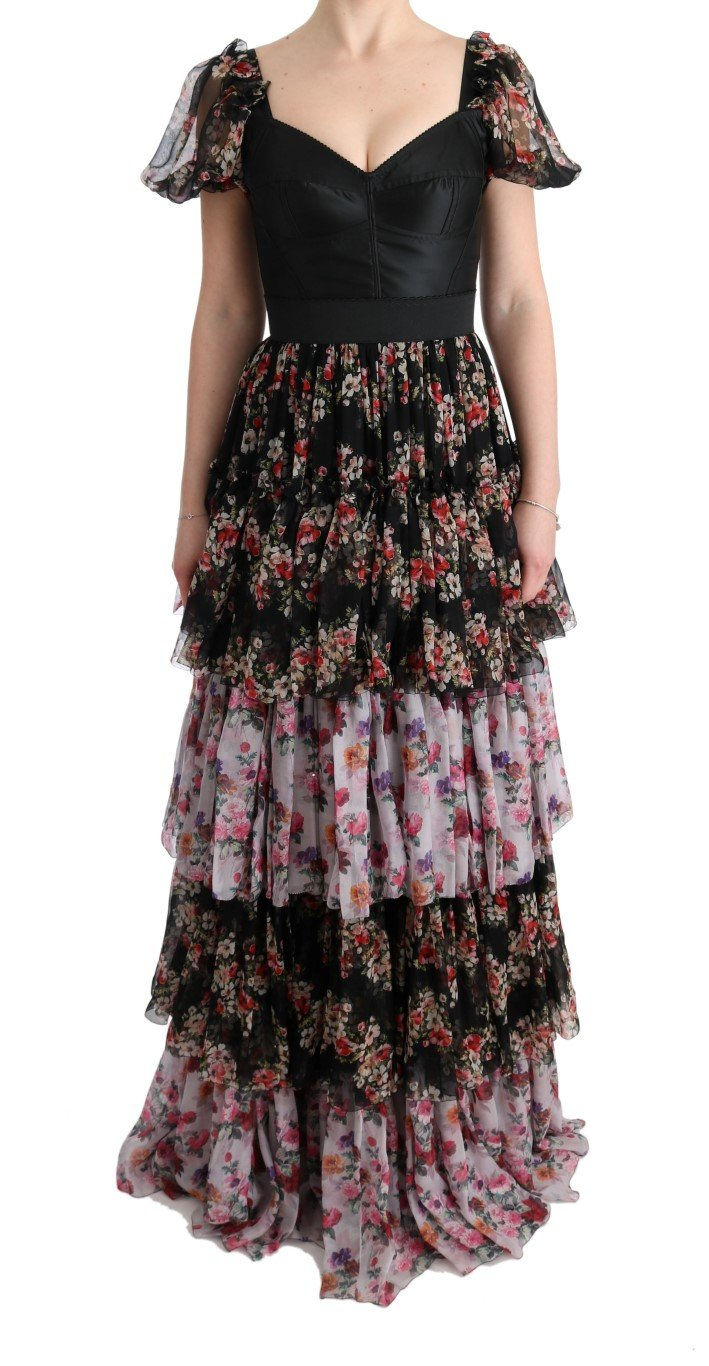 Dolce & Gabbana Women's Silk Stretch Floral Dress Multicolor SIG60609 - IT36 | XS