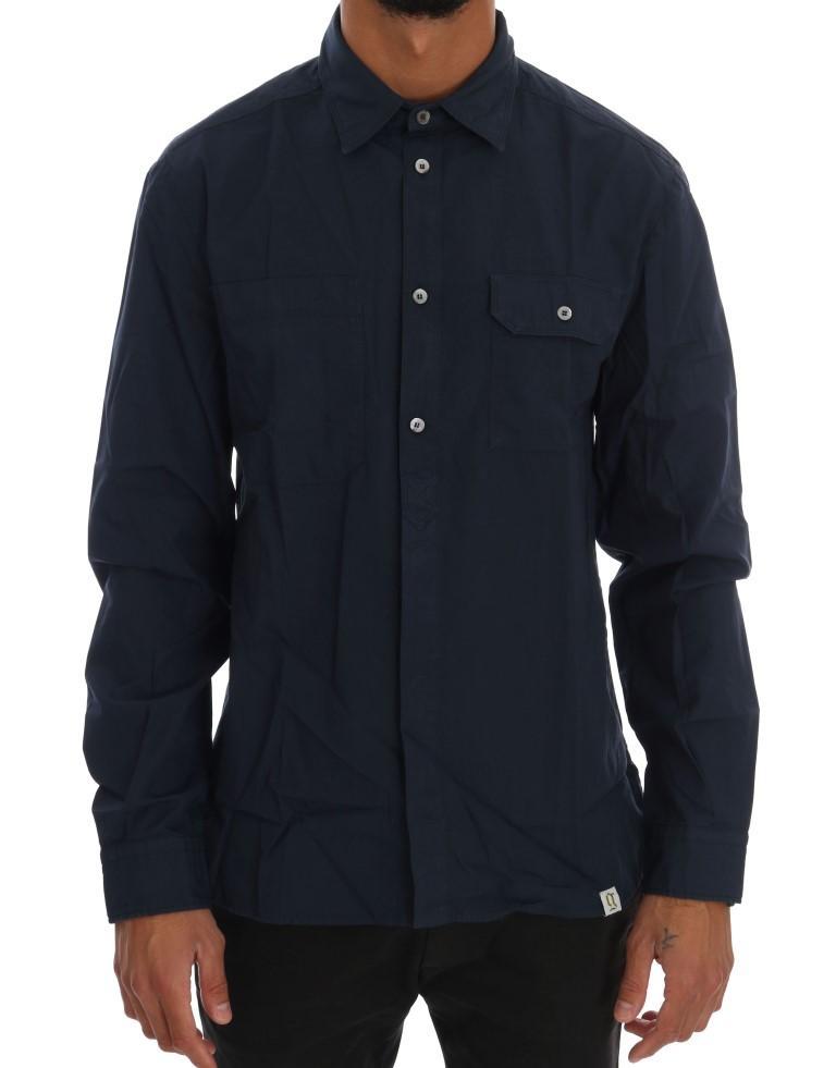 John Galliano Men's Casual Cotton LS Shirt Blue TSH1216 - IT50   L