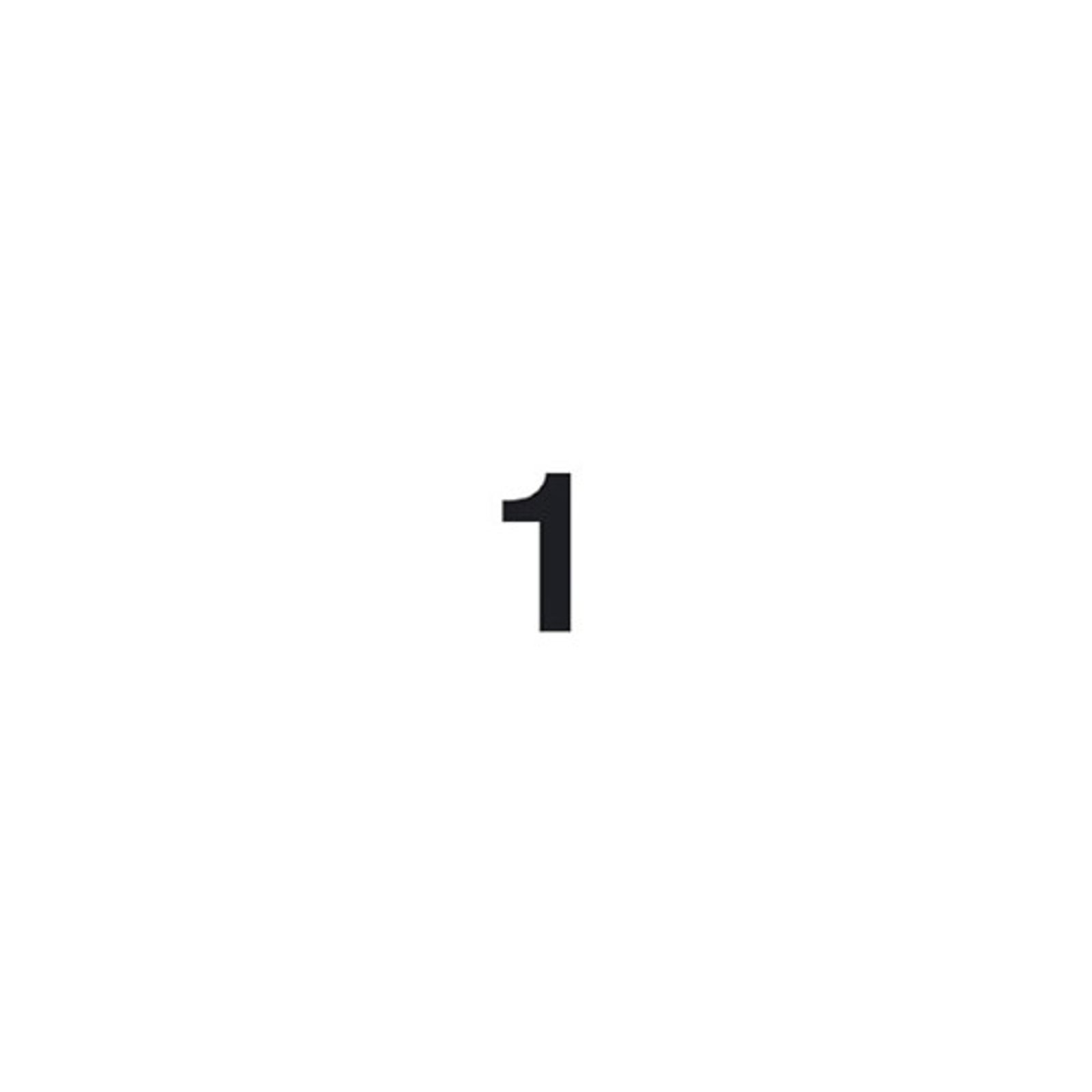 Selvklebende tallet 1