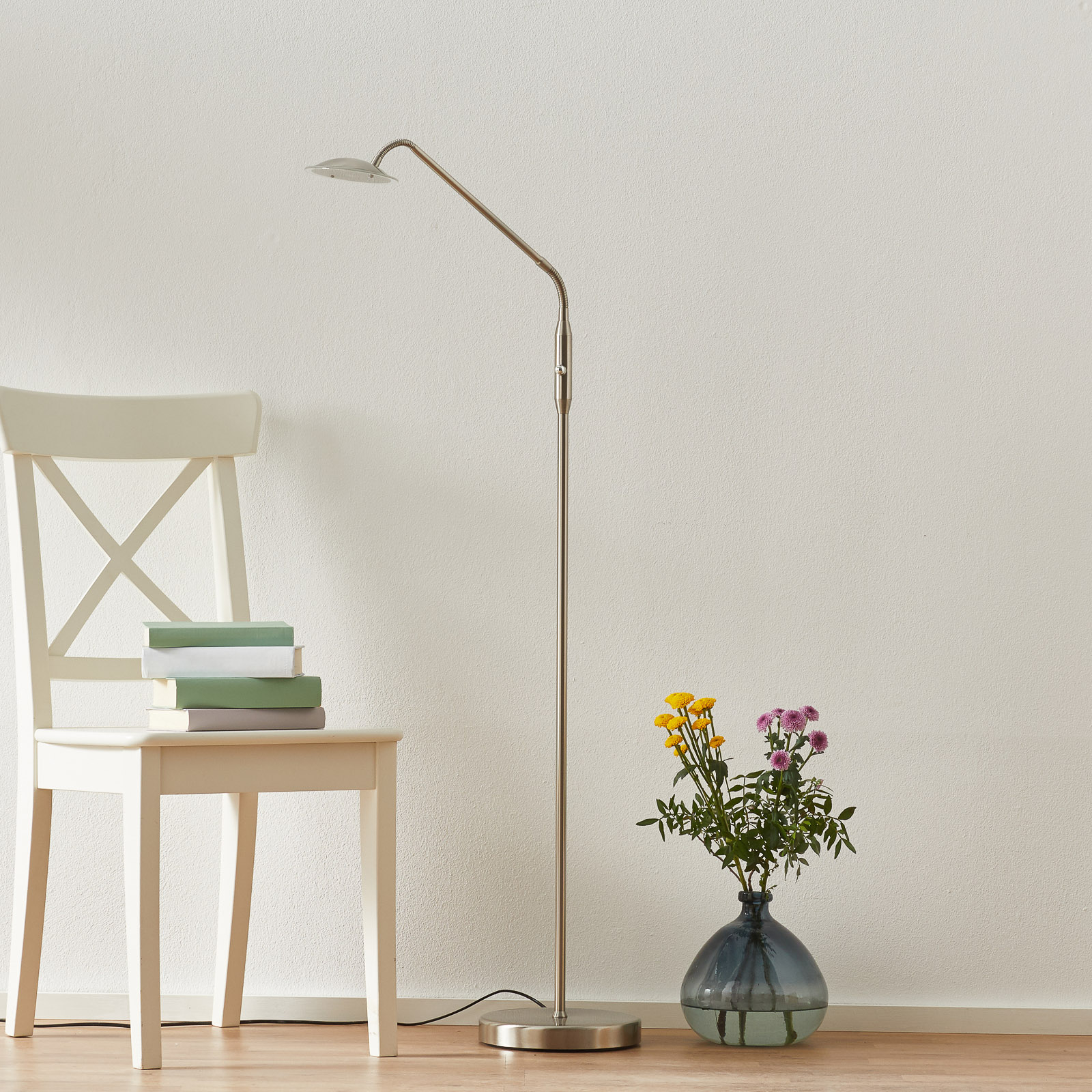 LED-lattiavalaisin Twin, 1-lamppuinen, nikkeli