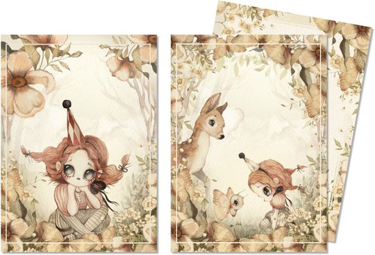 Mrs Mighetto Kort 2-pack The Floral Glade 10x15