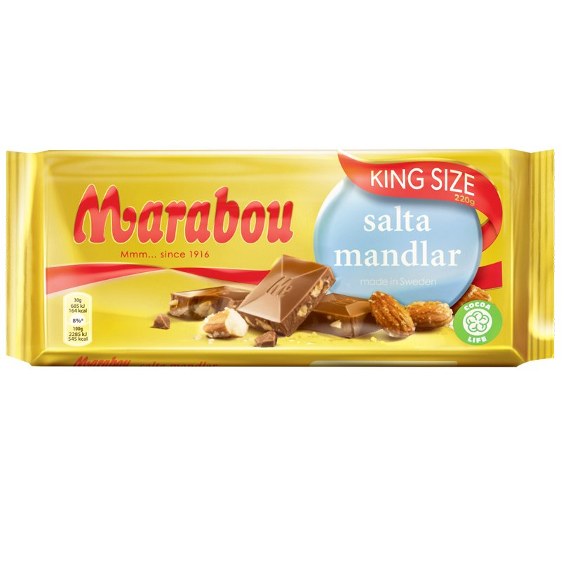 Mjölkchoklad Salta Mandlar - 36% rabatt
