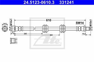 Jarruletku, Taka-akseli, MERCEDES-BENZ GL-KLASS [X164], M-KLASS [W164], 164 420 02 48, A 164 420 02 48