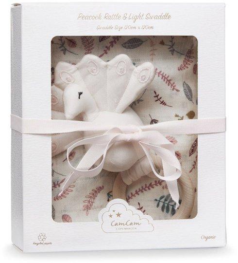 Cam Cam Copenhagen Giftbox Swaddle, Pressed Leaves Rose