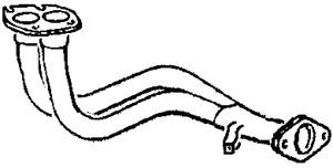 Pakoputki, Edessä, OPEL ASTRA F, ASTRA F Cabriolet, ASTRA F Halvkombi, ASTRA F Kombi, VAUXHALL ASTRA Mk III, 858015, 858030