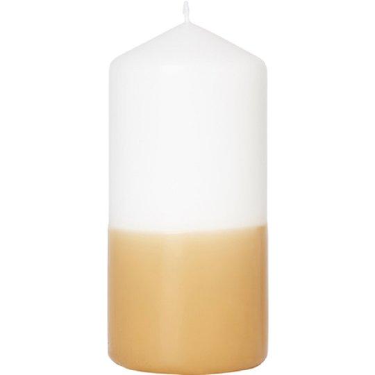 Blockljus Vit/Honung 15cm - 67% rabatt