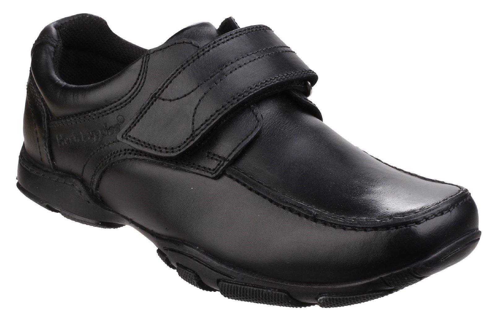 Hush Puppies Men's Freddy 2 Touch Fastening School Shoe Black 25345 - Black 10 UK