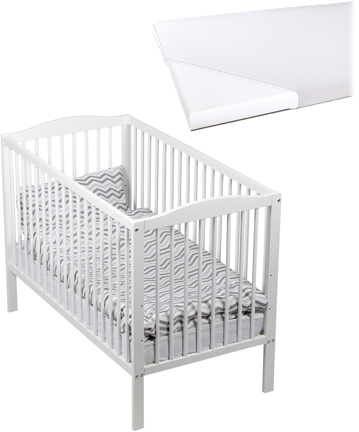 JLY Dream Pinnasänky + BabyMatex Softi Patja 60x120, Valkoinen