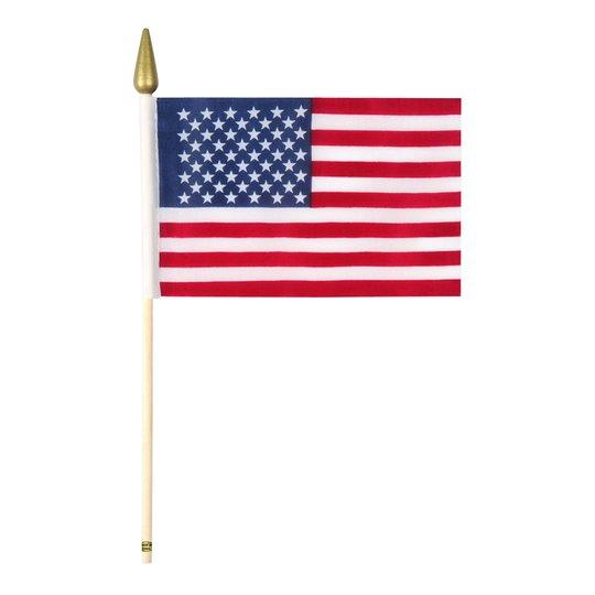Flagga på Pinne Amerika - 1-pack