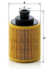 Öljynsuodatin MANN-FILTER HU 712/7 x