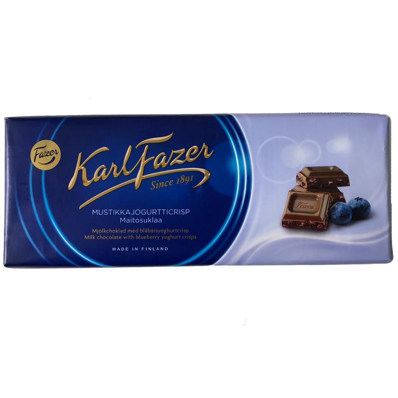 "Mjölkchoklad ""Blåbärsyoghurtcrisp"" 190g - 25% rabatt"