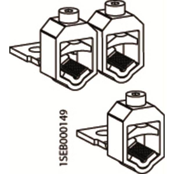 ABB VC-ZLBM/ZHBM123 V-klemme for XLBM 1,2,3, 95-240 kvm