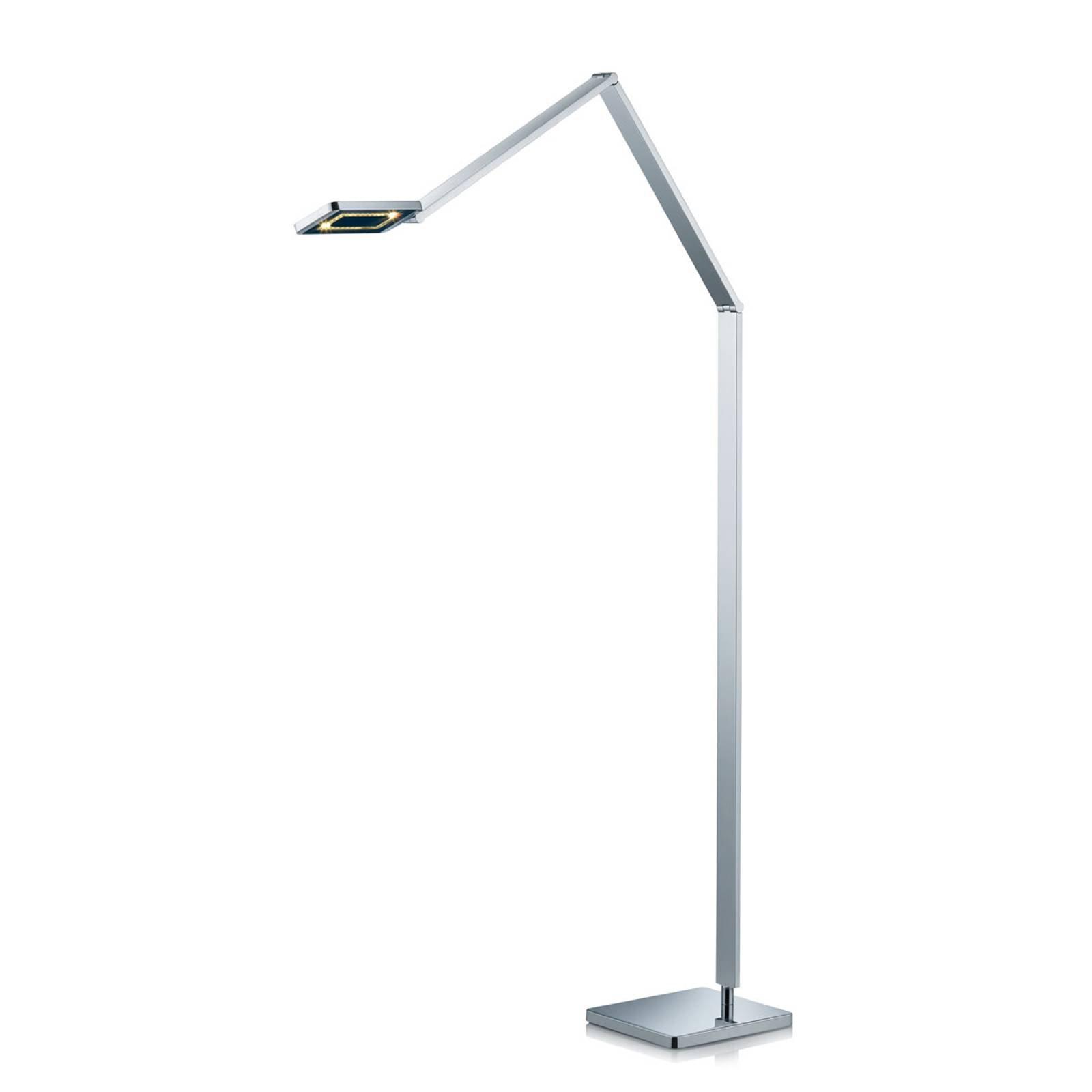 Slank LED-gulvlampe Linus i krom