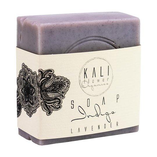 KaliFlower Organics Ekologisk Handgjord Tvål - Indigo & Lavender, ca. 120 g