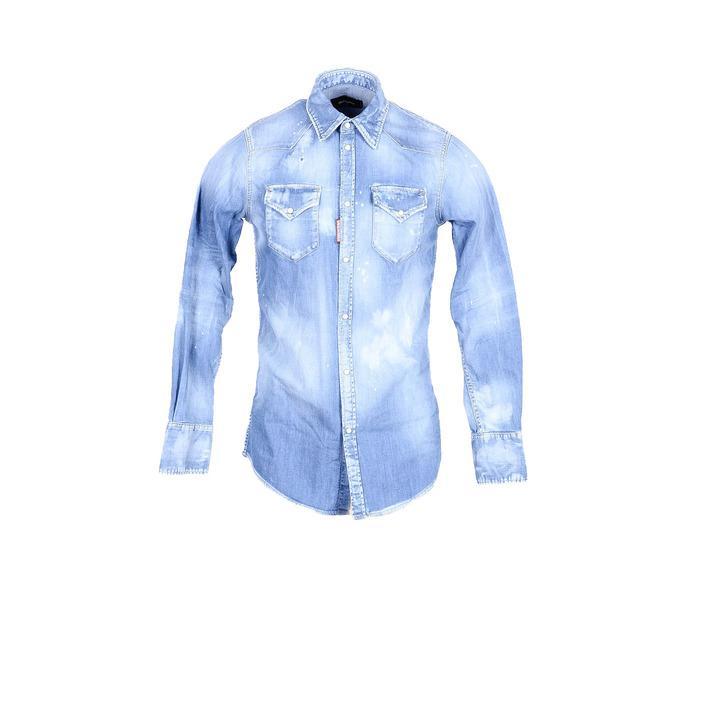 Dsquared Men's Shirt Blue 181239 - blue 50