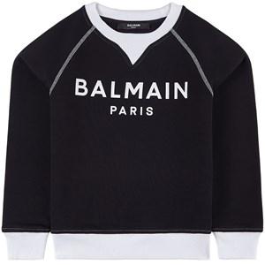 Balmain White Branded Tröja Svart 6 år